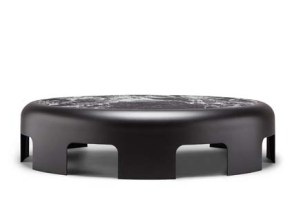Black/White Marble 8-Arches Table