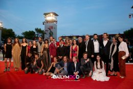 The casti crew walk the red carpet ahead of the 'Capri-Revolution'