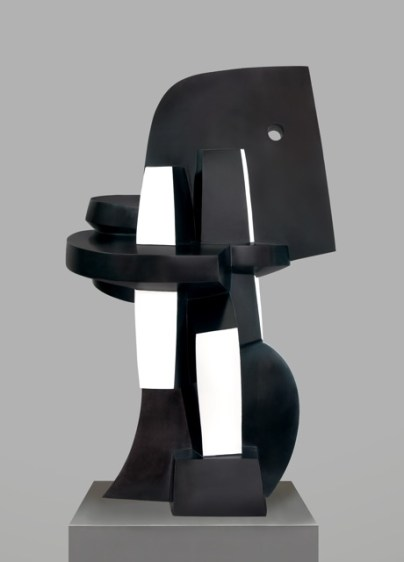 Sophia Vari Le Poète 1999 black and white polychrome bronze 91 x 55 x 54 cm