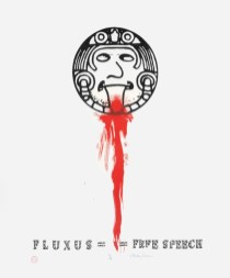 Philip Corner, Fluxus free speech, 2006 Silkscreen on cloth, hand-coloured 152 x 119 cm 59 7/8 x 46 7/8 in Stretcher: 131.5 x 96.5 x 1 cm 51 3/4 x 38 x 3/8 in Frame:132 x 97 x 3 cm 52 x 38 1/4 x 1 1/8 in Edition 12 of 18