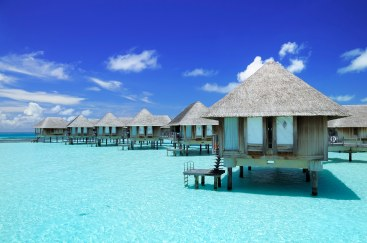 Tropical resort in Maldives. Adobe RGB Colour Space.