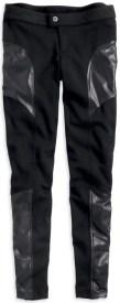 Women's Black Ponte Pant with Seam Details