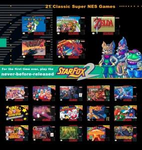 Le listing des jeux