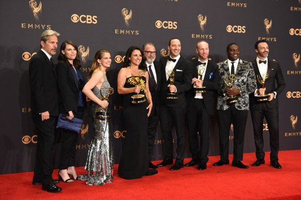 """Veep"" won the Emmy award for Outstanding Comedy Series at the 69th Emmy Awards on Sunday, Sept. 17, 2017 at the Microsoft Theater in Los Angeles, California. (Photo by Michael Owen Baker / SCNG)"