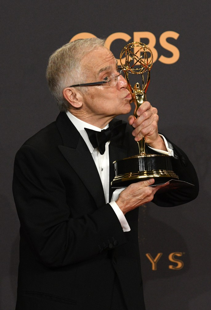"""Don Roy King won the Emmy award for Outstanding Directing for a Variety Series for an episode of """"Saturday Night Live"""" at the 69th Emmy Awards on Sunday, Sept. 17, 2017 at the Microsoft Theater in Los Angeles, California. (Photo by Michael Owen Baker / SCNG)"""