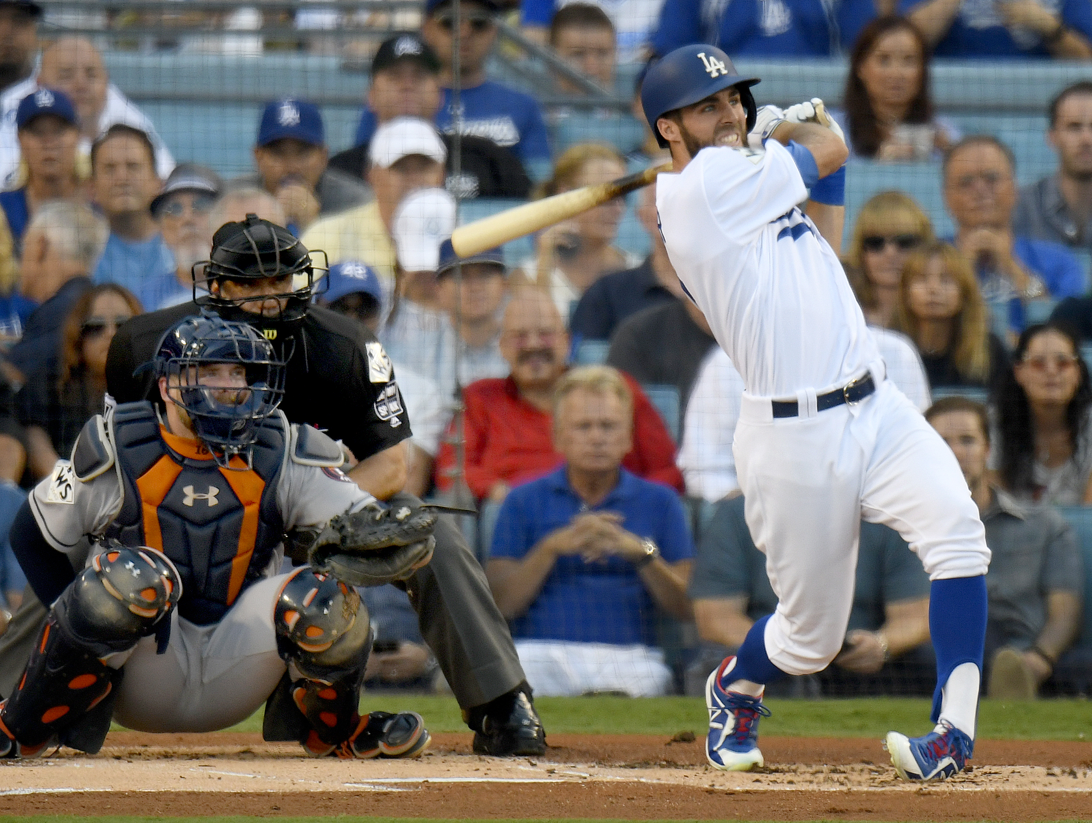 Image result for chris taylor home run 2017 world series