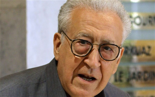 """Lakhdar Brahimi said Al-Khatib has """"opened the door, and the Syrian government has said in truth that it confirms what it has been continuously saying, that it is ready for dialogue and for a peaceful solution"""". (Photo - AFP)"""
