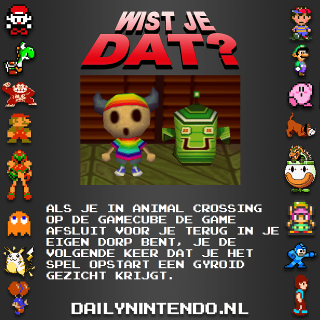Wist je dat Animal Crossing Gyroid face