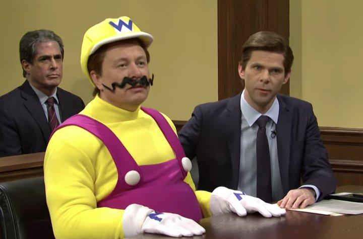 Elon musk as Wario in Saturday Night Live