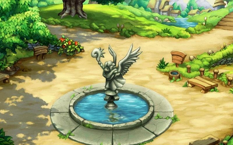 Legend of Mana fountain screenshot nieuw