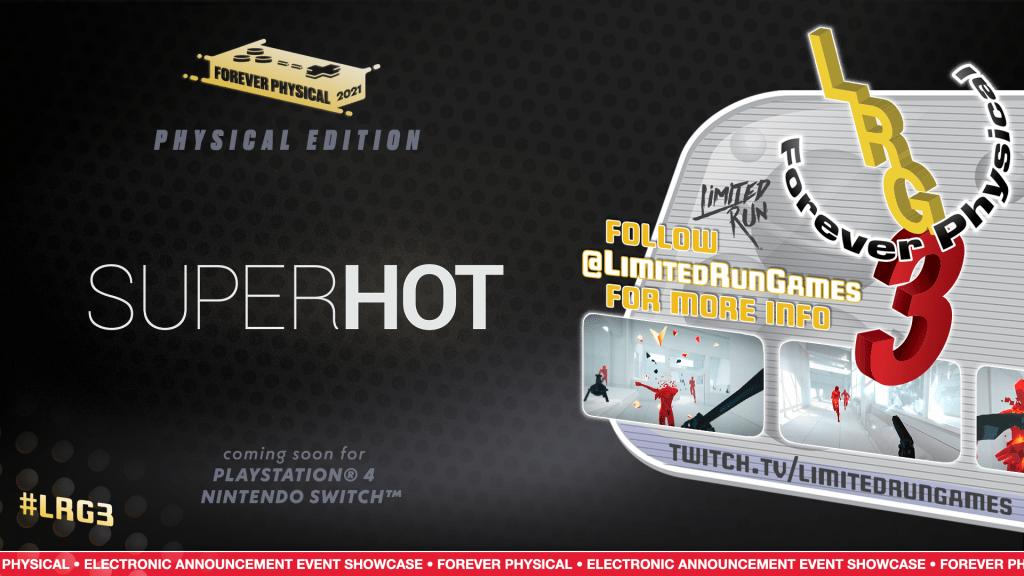 SUPERHOT Limited Run Games promotie afbeelding