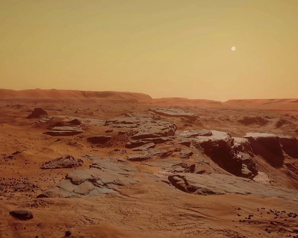 ESA probe beams unveils Mars landscape shaped by water ...