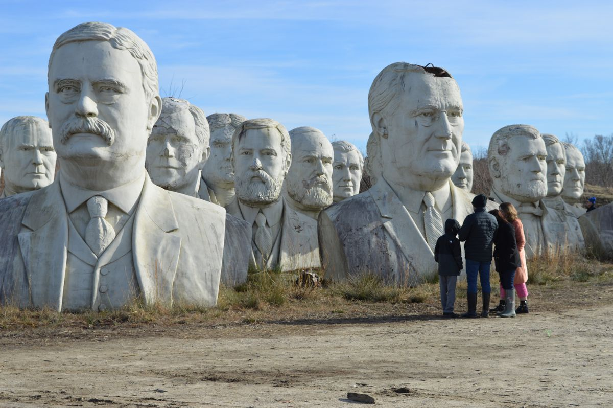The Home Of The Giant Deteriorating President Head