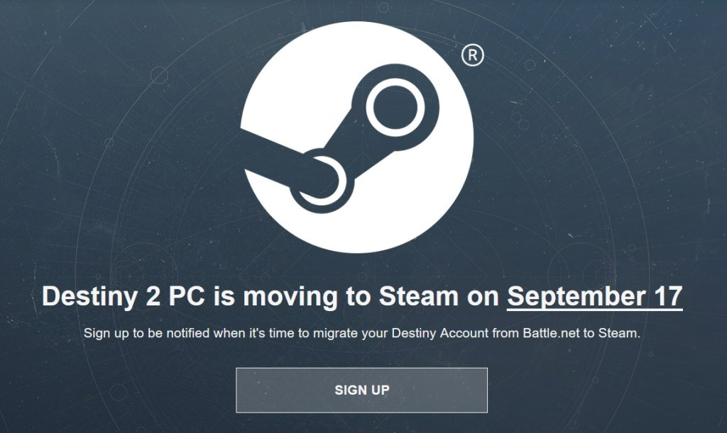 Destiny 2 per PC si sposta su Steam