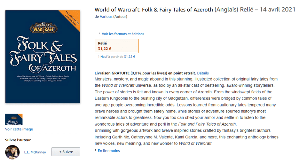 World of Warcraft: Folk and Fairy Tales, nuovo libro