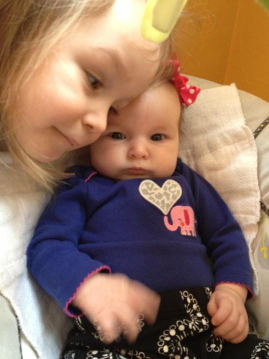 Big sister is ALWAYS photo bombing!