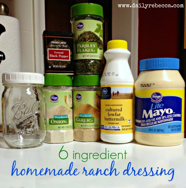 6 Ingredient Homemade Ranch Dressing Daily Rebecca