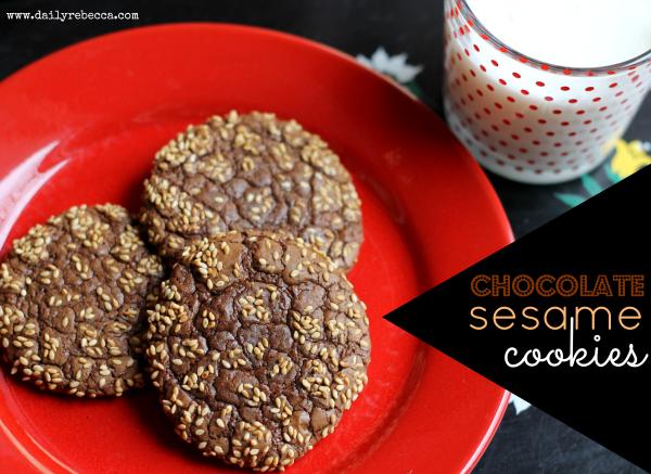 Chocolate Sesame Seed Cookies