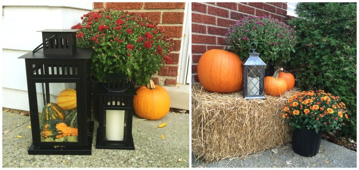 fall porch collage