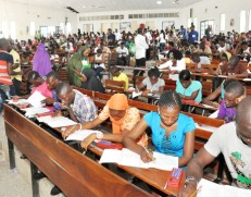 Image result for OAU students writing exam