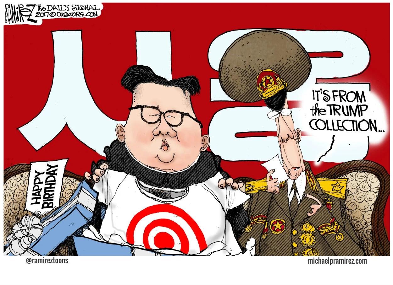 Cartoon Will North Korea Test Trump