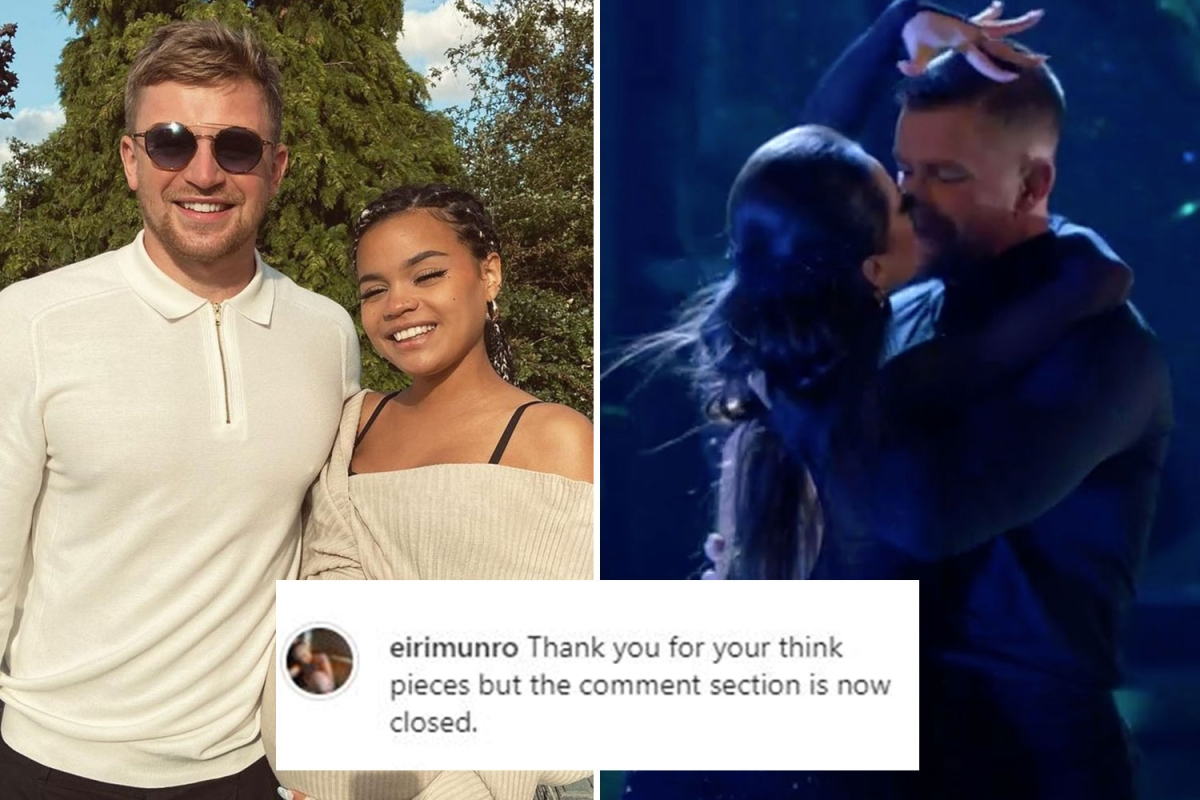 Adam Peaty's girlfriend Eiri Munroe forced to turn off comments after his 'near kiss' with Katya Jones