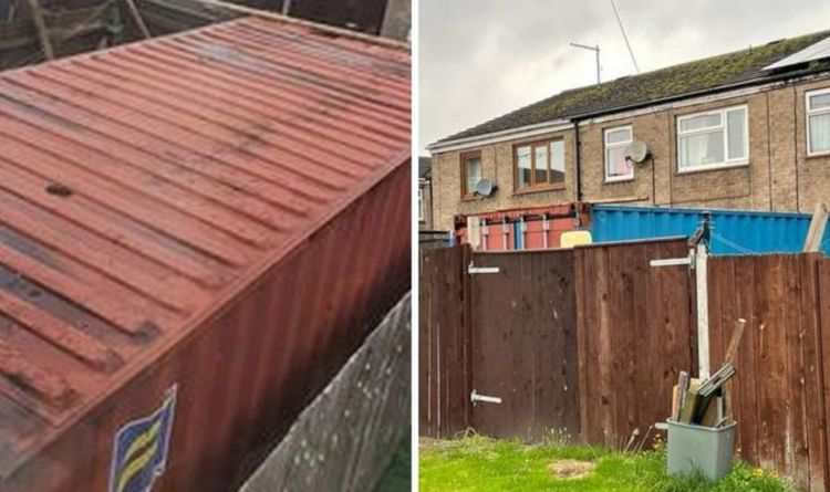 Mum furious after shipping container appears in neighbour's garden – 'not a conservatory'