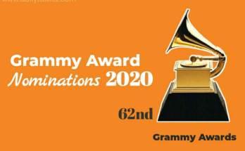 Grammy Awards 2020 Nominations Entire List | 62nd Grammy Awards