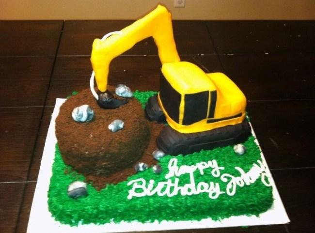 Kue Ulang Tahun Buldozer