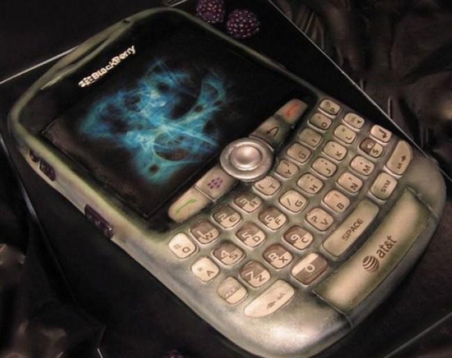 Kue Ultah Bentuk Ponsel BlackBerry