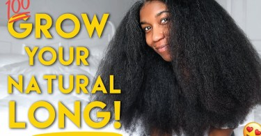 How To Grow Healthy Natural Black Hair Fast