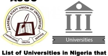 Universities Not Under ASUU