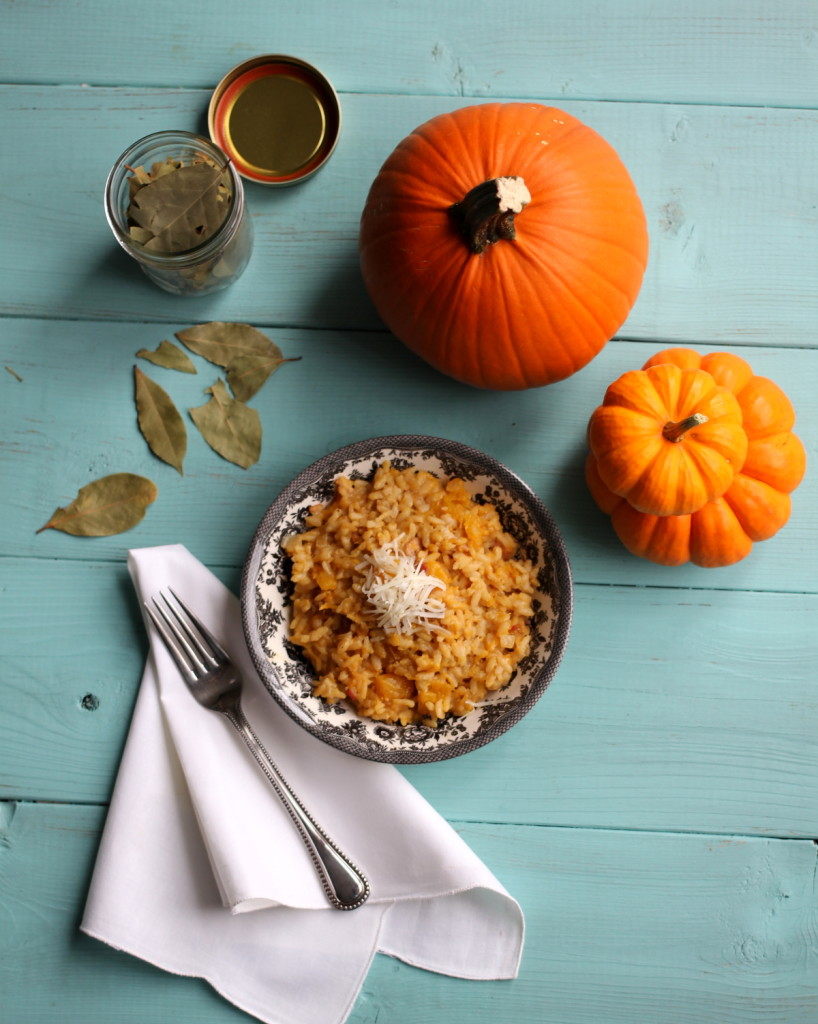 20 minute no-stir pumpkin & bacon risotto