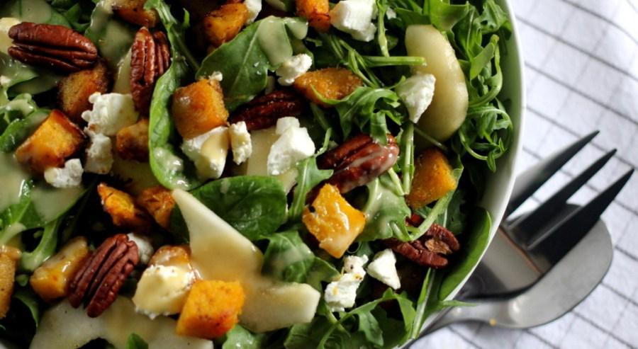 Autumn Salad with Squash and Brown Butter vinaigrette www.dailytiramisu.com