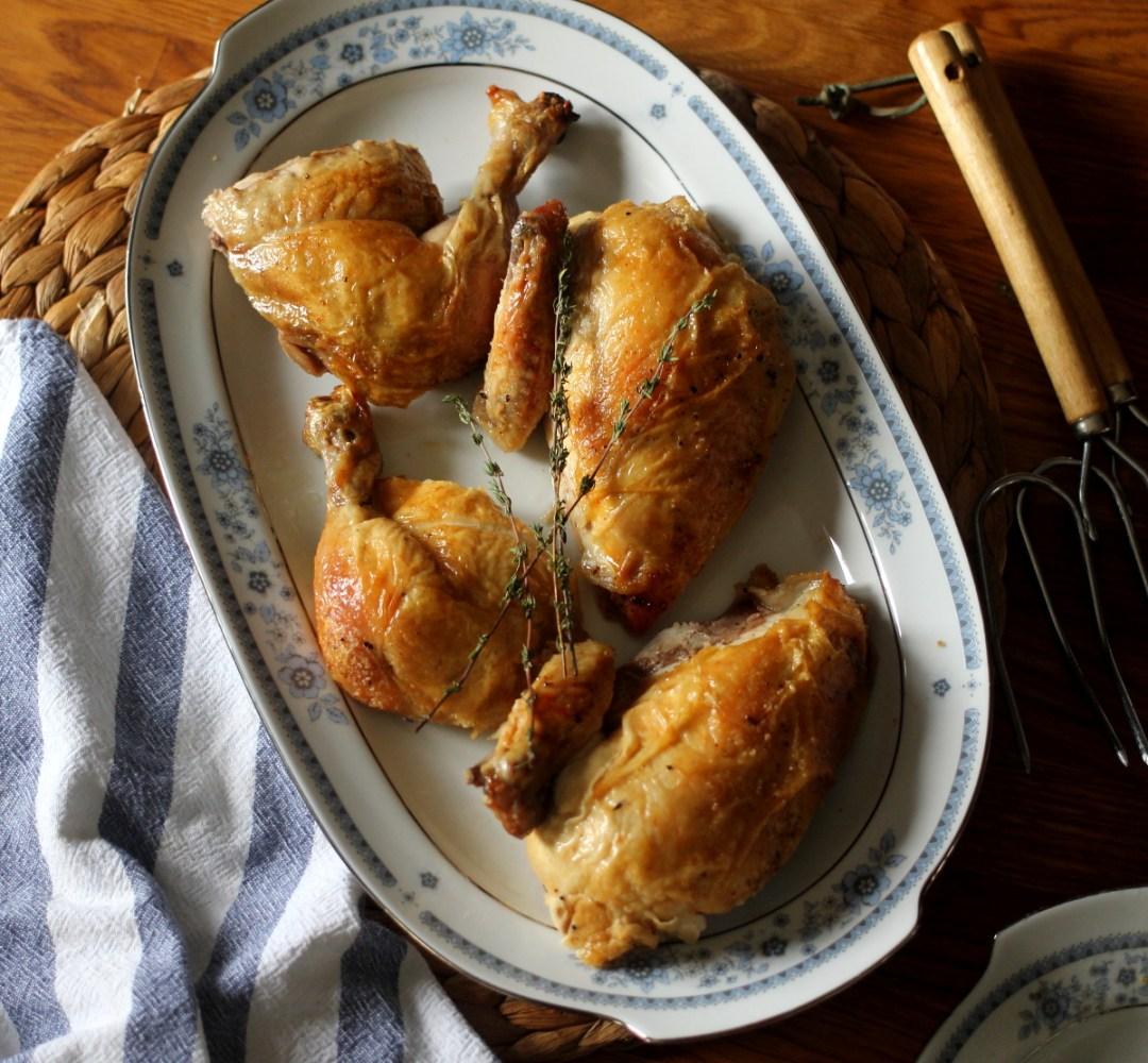 3-Step Easiest Whole Roasted Chicken www.dailytiramisu.com