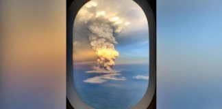 Taal Volcano erupts in the Philippines, What was see from plane
