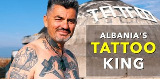 The Albania's Tattoo King Peter. Photo: Nas Daily
