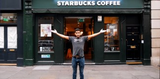 Why I Never Drink Coffee? Mr. Nas Explaining In Front of STARBUCKS COFFEE Shop. Photo Source: YouTube