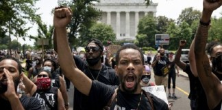 US sees largest protests to date