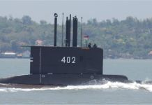 Indonesian submarine goes missing north of Bali