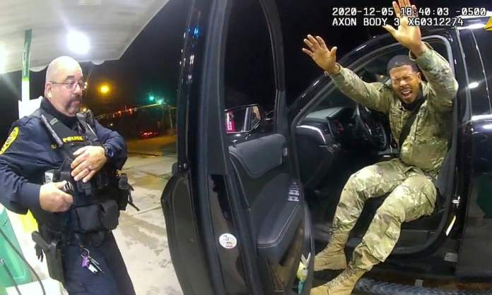 US army officer sues police over violent traffic stop