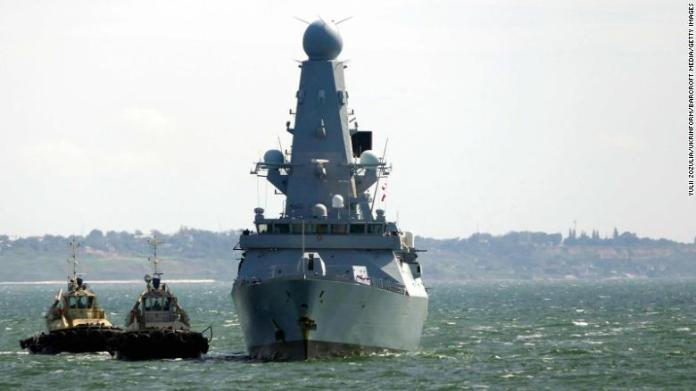Russian forces confront British warship in Black Sea military encounter