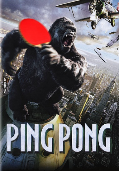 #8 When King Kong wants to play ping pong…