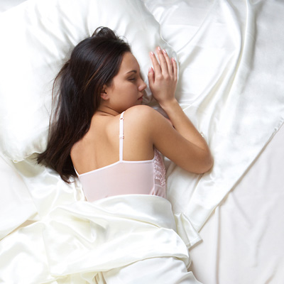 #6 Sleeping on silk and satin pillowcases helps keep the frizz out of your hair and saves hair damage. Or you could just wrap your hair with a silk scarf before going to bed! Life saving, right?