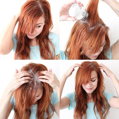 #5 Using talc on your scalp and roots gets rid of excess oil. This helps you wake up with beachy waves.