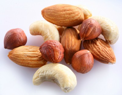 nuts and almonds and yummy goodness