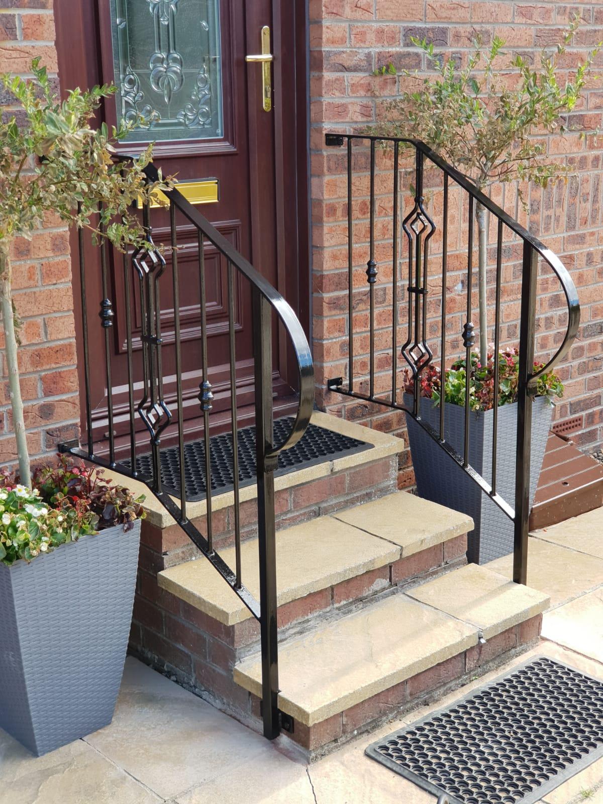Decorative handrails | DAIN ART IRON Metal handrails by ...