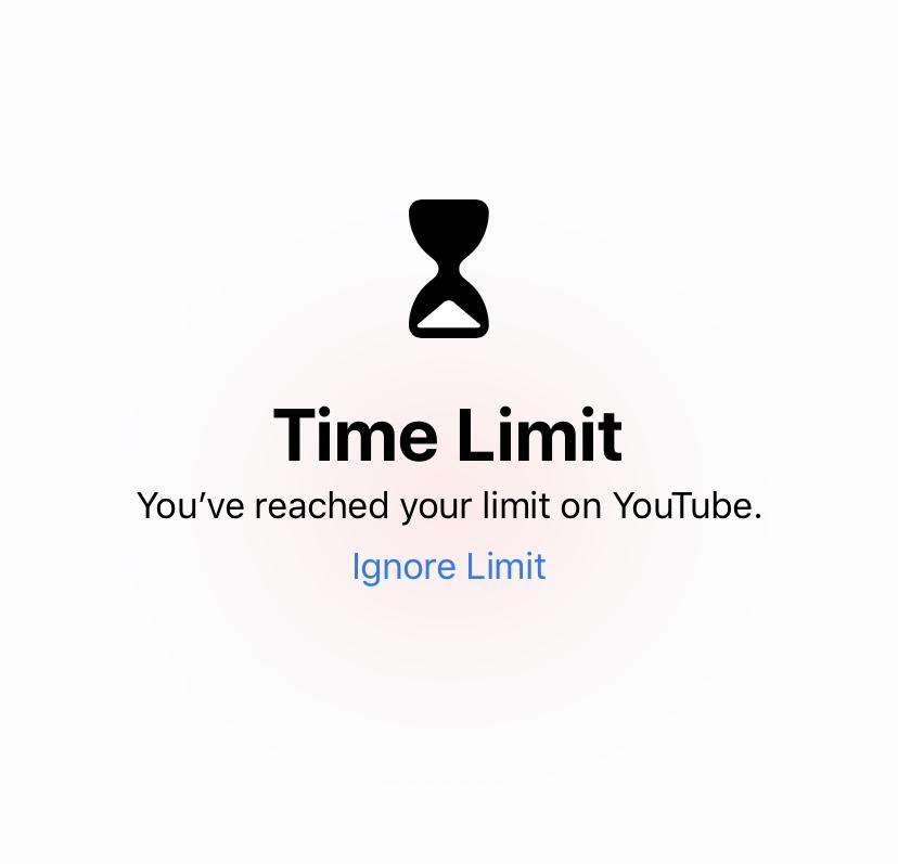 Apple screen time