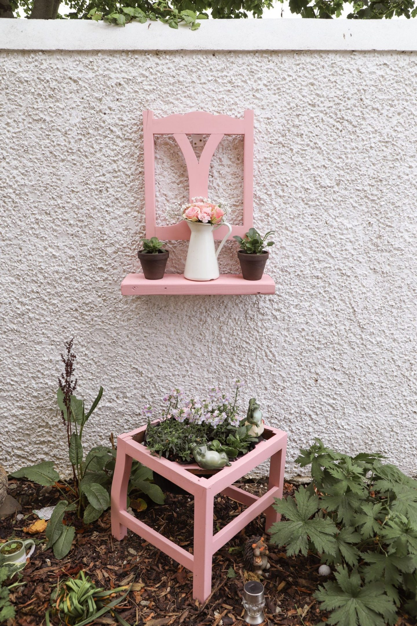 Recycle an old chair into a flower pot