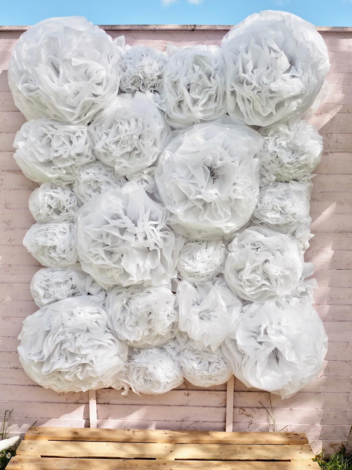 DIY Budget Friendly Paper Flower Wall